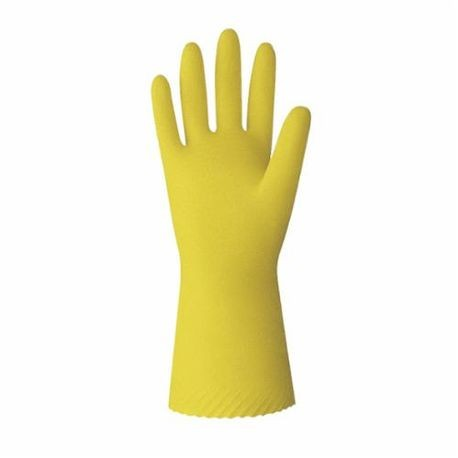 Value Master VML-09 VM Series Unsupported Chemical Resistant Gloves, L/SZ 9, Yellow, Latex/Natural Rubber