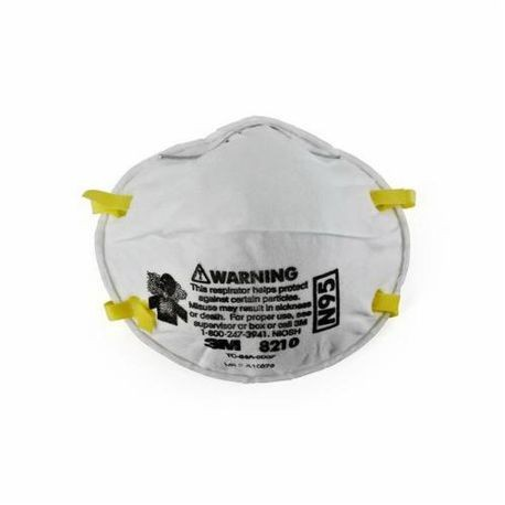3M 051138-46457 Cup Style Disposable Particulate Respirator With Adjustable Nose Clip, Standard, N95, 0.95, White