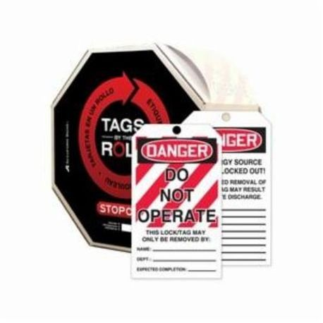 Accuform TAR114 Tags By-The-Roll Safety Tag, 3/8 in Hole, PF-Cardstock