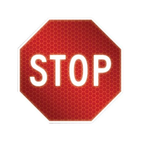 Accuform FRR048 Traffic Sign, Text, STOP, 0.08 in Aluminum, Post/Fence Mounting, 24 in H x 24 in W