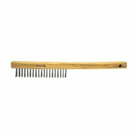 Vortec Pro 25154 Hand Wire Scratch Brush, 6 in Brush, 13-1/2 in L x 1 in W Block, 1 in Stainless Steel Trim