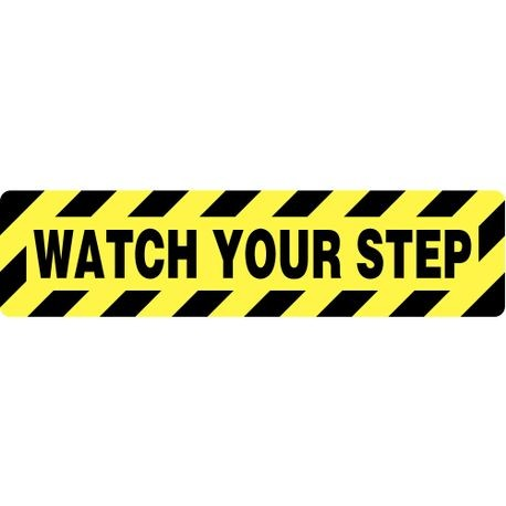 ACCUFORM PSD622 Skid-Guard Floor Sign: Watch Your Step