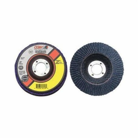 CGW53016 Contaminant-Free Premium Coated Abrasive Flap Disc, 6 in Dia, 120 Grit, Fine Grade, Z3Zirconia Alumina Abrasive, Type 27/Depressed Center Flat Disc