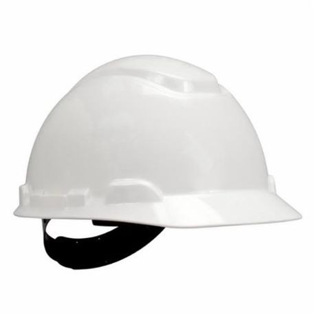 3M 078371-64187 Non-Vented Short Brim Hard Hat, White, High Density Polyethylene, 4-Point Pinlock Suspension, Class C, G, E