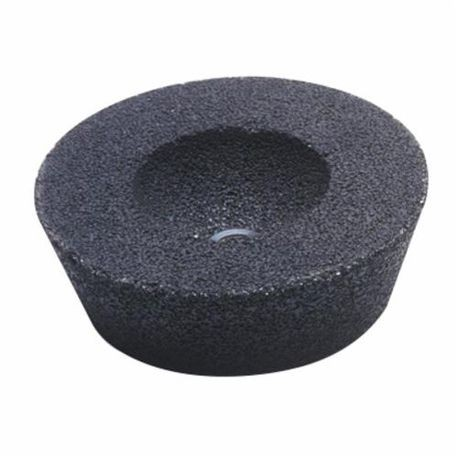 CGW49009 Cup Wheel With Steel Back, 6 x 4-3/4 in Dia x 2 in THK, 16 Grit, Aluminum Oxide Abrasive