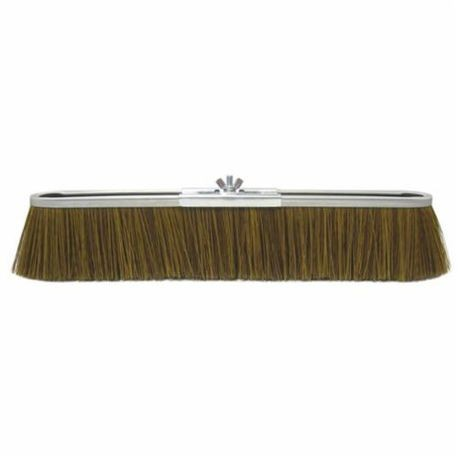 Vortec Pro 25294 Push Broom, 18 in OAL, 3 in Trim, Coarse Sweep Face, Brown Polypropylene Bristle