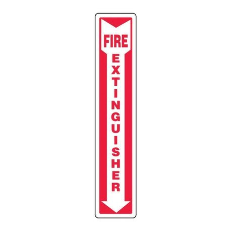 Accuform MFXG545VS Moisture Resistant Fire Extinguisher Sign, 18 in H x 4 in W, White/Red, Surface Mount