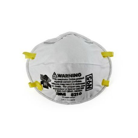3M 051138-46457 Disposable Particulate Respirator With Adjustable Nose Clip, Standard, N95, 95%, Dual Elastic, White