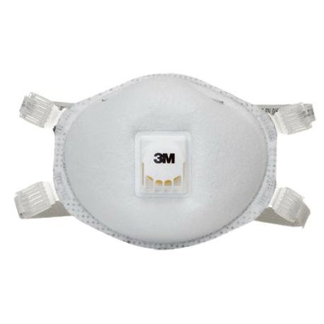 3M 8214 Particulate Respirator With Cool Flow Exhalation Valve, Standard, N95, 95%, Adjustable Cloth, White