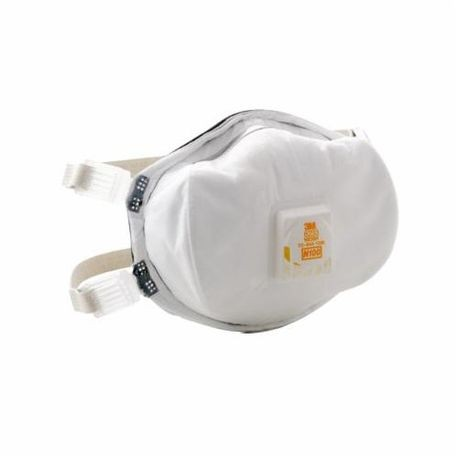 3M 8233 Cup Style Disposable Particulate Respirator With Cool Flow Exhalation Valve, Standard, N100, 0.9997, White