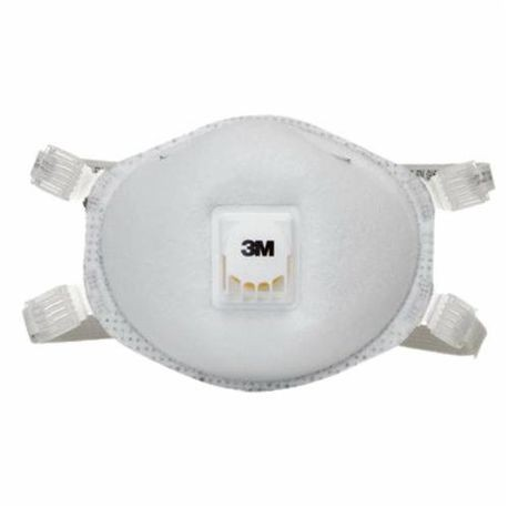 3M 8214 Disposable Particulate Welding Respirator With Cool Flow Exhalation Valve, Standard, N95, 0.95, White