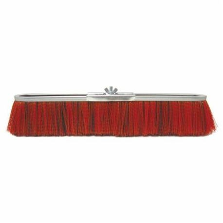 Vortec Pro 25291 Push Broom, 24 in OAL, 3 in Trim, Medium Sweep Face, Red Polypropylene Bristle