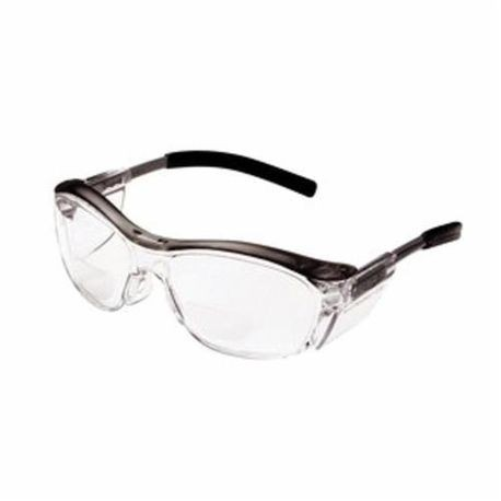 3M Nuvo 11436-00000-20 Unisex Reader Protective Eyewear, Universal, +2.5, Anti-Fog/Impact Resistant Clear Lens