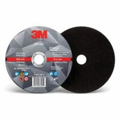 3M Silver 051125-87469 Type 1 Cut-Off Wheel, 6 in Dia x 0.045 in THK, 7/8 in, Ceramic Grain Abrasive