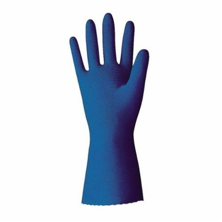 Value Master VMUP Chemical Resistant Gloves, L/SZ 9, Blue, Latex/Natural Rubber
