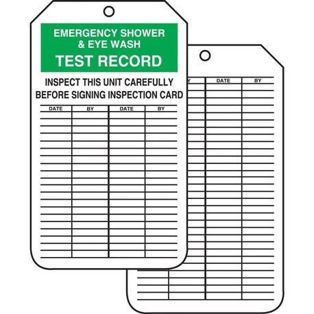 Accuform MGT207PTP High Strength Tear Resistant Inspection Record Tag, 5-3/4 in H x 3-1/4 in W, Green/Black/White