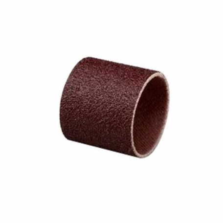 3M 341D Coated Spiral Band, 1 in Dia, 1 in W Band, 80/Medium, Aluminum Oxide Abrasive