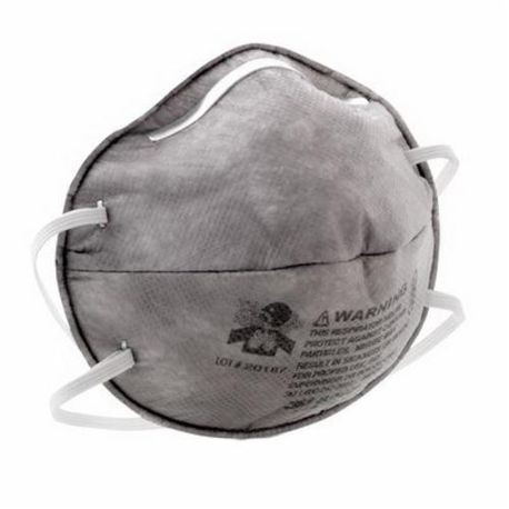3M 8247 Cup Style Disposable Particulate Respirator, Standard, R95, 0.95, Stapled Headstrap, Gray