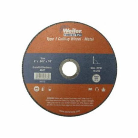 Vortec Pro 33052 Type 1 Cut-Off Wheel, 8 in Dia x 1 in THK, 1 in, 36 Grit, Aluminum Oxide Abrasive