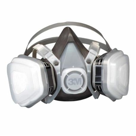 3M 52P71 Disposable Half Facepiece Respirator, M, P95, 95%, Elastic, Black