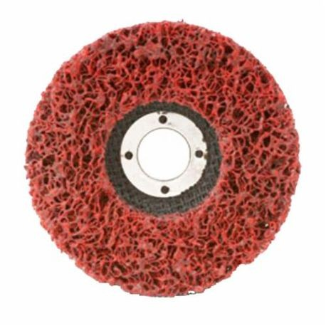CGW59205 EZ Series Non-Woven Strip Wheel, 4-1/2 in Dia, Extra Coarse Grade, Silicon Carbide Abrasive