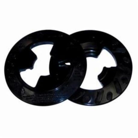 3M 80515 Hard Density Ribbed Disc Pad Face Plate, 7 in Dia, Retainer Nut Face Mount