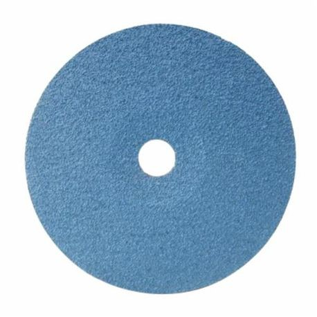 CGW48832 High Performance Quick-Lock Coated Abrasive Disc, 9 in Dia, 5/8-11 Center Hole, 36 Grit, Medium Grade, Zirconia Alumina Abrasive, Threaded Attachment