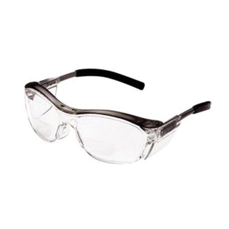 3M Nuvo 078371-62063 Unisex Reader Protective Eyewear, Universal, +2, Half Framed, Anti-Fog, Impact-Resistant