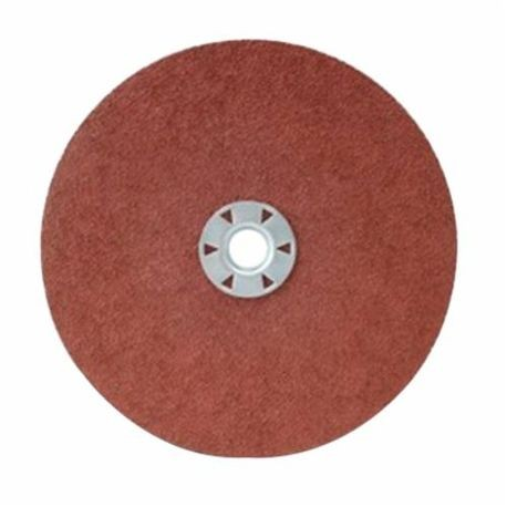CGW48745 Quick-Lock Coated Abrasive Disc, 9 in Dia, 5/8-11 Center Hole, 60 Grit, Medium Grade, Aluminum Oxide Abrasive, Threaded Attachment