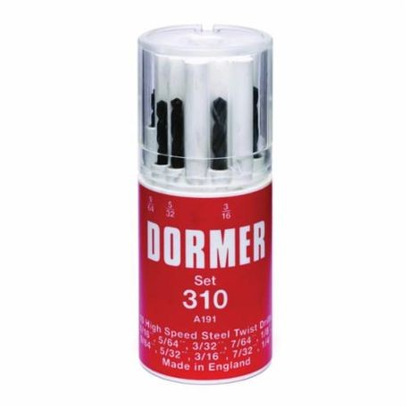 Dormer 0149133 A191, 20 Pieces, 4XD Cutting Depth, 118 deg Point, HSS, Steam Oxide