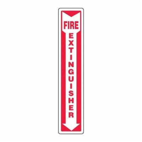 Accuform MFXG545VP Moisture Resistant Fire Extinguisher Sign, 18 in H x 4 in W, White/Red, Surface Mount, Plastic