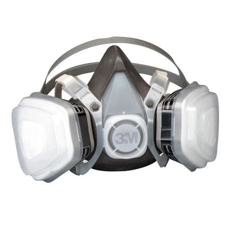 3M 53P71 Disposable Half Facepiece Respirator, L, P95, 95%, Elastic, Black