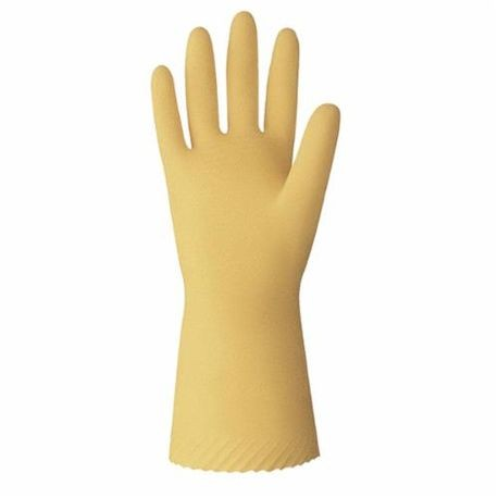 Value Master VMUS-07 Unsupported Chemical Resistant Gloves, S/SZ 7, Amber, Latex/Natural Rubber