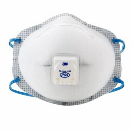 3M 8577 Cup Style Disposable Particulate Respirator With Cool Flow Exhalation Valve and Adjustable M-Nose Clip, P95