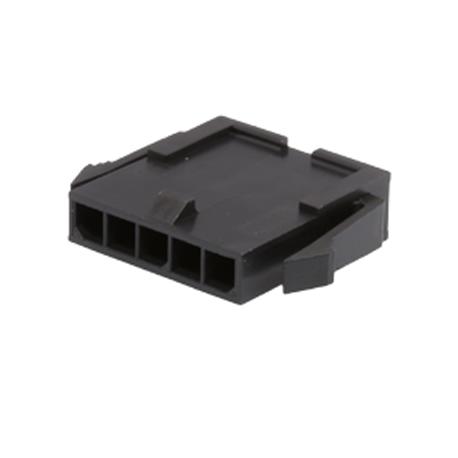 Molex 43640-0500 connettore chassis plug Panel Mount 5 POLI FILA pezzo di neu*10 *