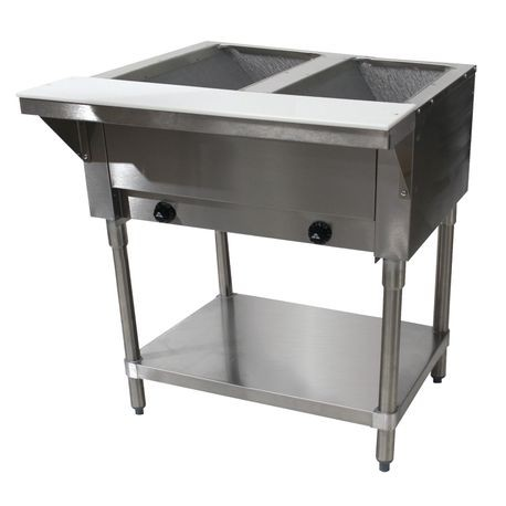"Advance Tabco HF-2G-LP Hot Food Table, LP gas, 31-13/16""W x 30-5/8""D x 34-3/8""H, (2) 12"" x 20"" hot food wells"