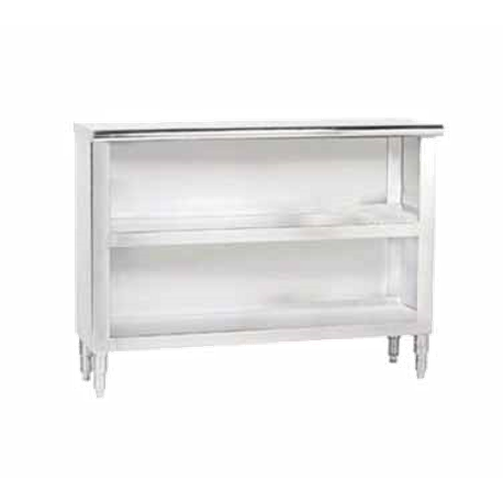 "Advance Tabco DC-156 Dish Cabinet, 72""W x 15""D x 35-1/2""H, 14 ga. stainless steel top, 18 ga. stainless steel body, open base with mid-shelf, adjustable"