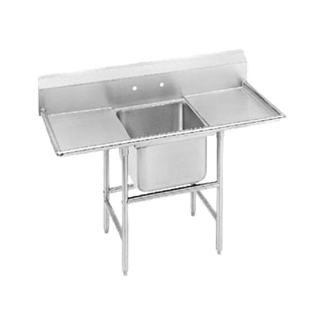 "Advance Tabco 94-41-24-24RL Regaline Sink, 1-compartment, with left & right-hand drainboards, 24"" front-to-back x 24""W sink compartment, 14"" deep, with"