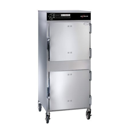 Alto-Shaam 1767-SK/III Halo Heat Slo Cook Hold & Smoker Oven, electric, double-deck, standard depth, 100 lb. capacity each - (1) rib rack shelf per