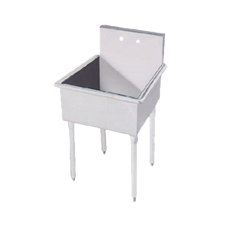 "Advance Tabco 4-OP-18 Service Sink, 1-compartment, 24""W x 24-1/2""D x 35""H (overall), 21"" front-to-back x 24"" side-to-side x 8"" deep (sink bowl), 304"