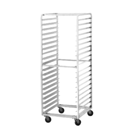 "Advance Tabco PR15-4WS Pan Rack, mobile, full height, side loading, 28-1/4""W x 18""D x 69-1/4""H, (15) 18"" x 26"" sheet pan capacity, slides on 4"" centers"