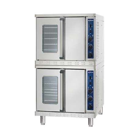 Alto-Shaam 2-ASC-4G/STK/E Platinum Series Convection Oven, Gas, stacked, standard depth, electronic spark ignition, electronic controller, temperature