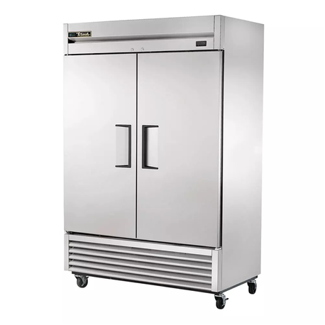 TRUE T-49F-HC Freezer, Reach-In, -10 F, Two-Section, Stainless Steel Doors, Stainless Steel Front, Aluminum Sides
