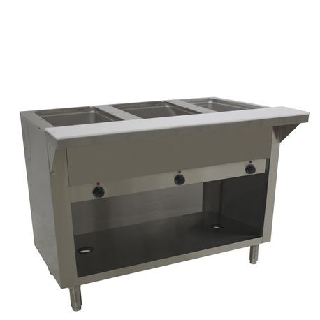 "Advance Tabco HF-3E-120-BS Hot Food Table, electric, 47-1/8""W x 22-5/8""D x 34-1/8""H, (3) 12"" x 20"" wells (accommodates pan inserts up to 7-3/4"" deep)"