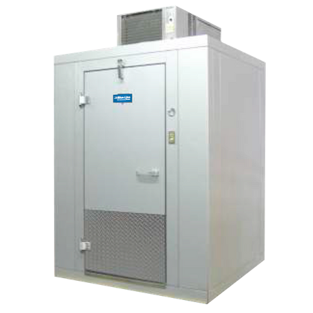 "Arctic Industries BL68-CF-R Walk-In Cooler Indoor, 5' 10""W x 7' 10""L x 7' 8-1/2""H, (+35 F holding), with floor, coated acrylume interior and"