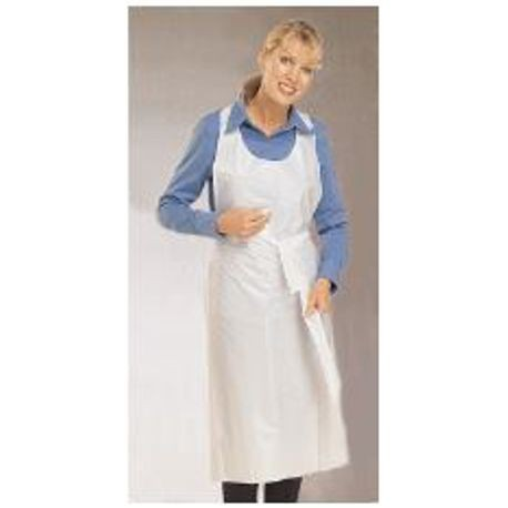 APRON PLS LONG TIE HVY 28X46 WHITE 500/CS