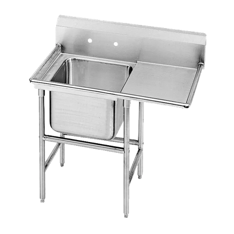 "Advance Tabco 94-21-20-24R Regaline Sink, 1-compartment, with right-hand drainboard, 20"" front-to-back x 20""W sink compartment, 14"" deep, with 11""H"
