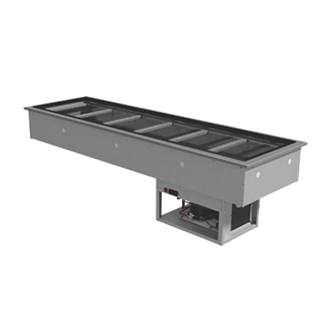 "Advance Tabco DIRCP-6 Refrigerated Cold Pan, Drop-in, 25.5"" x 86.125"" cut out, holds (6) 12"" x 20"" pans (accommodates pan inserts up to 6-1/4"" deep, with"