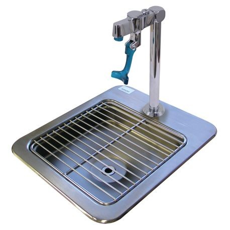 "Advance Tabco DI-1-9 Drop-In Filler Station, 9"" x 9"" x 3"" deep bowl, fits in cut-out 11-1/4"" x 13-1/4"", 20 gauge 304 series stainless steel, includes"