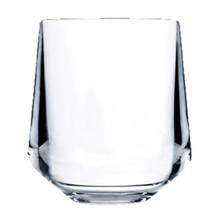 "Elite Stemless, 12 ounce capacity, 4"" height, Tritan Copolyester, BPA Free, (24 ea/cs), Drinique DRQ147"